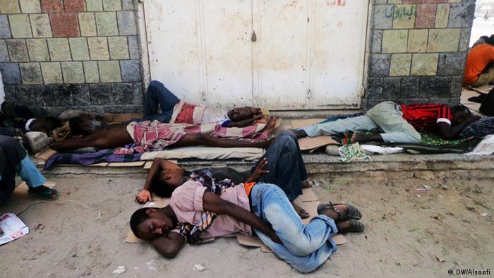 Jemen afrikanische Migranten in Harad