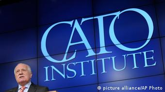 Former Czech president Vaclav Klaus speaks at the CATO Institute in Washington, 2013. Photo credit: picture alliance/AP Photo.