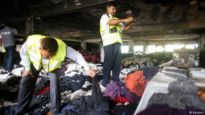 Bangladesch Brand in einer Textilfabrik