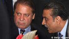 Pakistan Asif Ali Zardari und Muhammat Nawaz Sharif