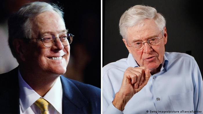 Bildcombo David H Koch und Charles Koch (Getty Images/picture alliance/landov)