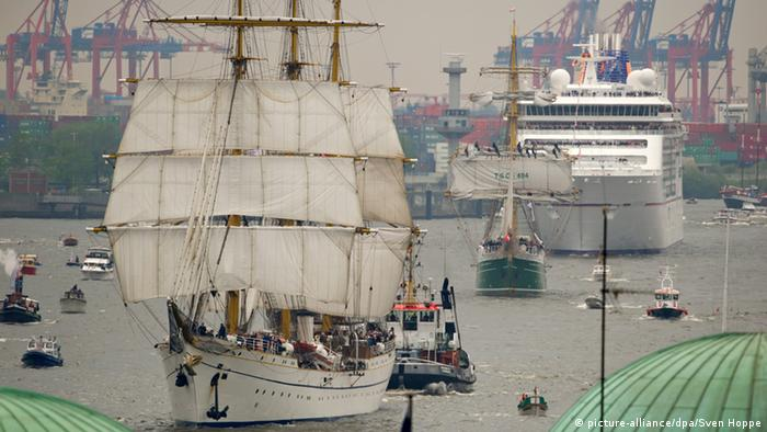 Das Segelschiff «Gorch Fock» Foto: Sven Hoppe/dpa