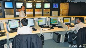 From the Siemens control room, engineers can regulate the climate in TAIPEI 101. Foto: DW / C.Uhlig
