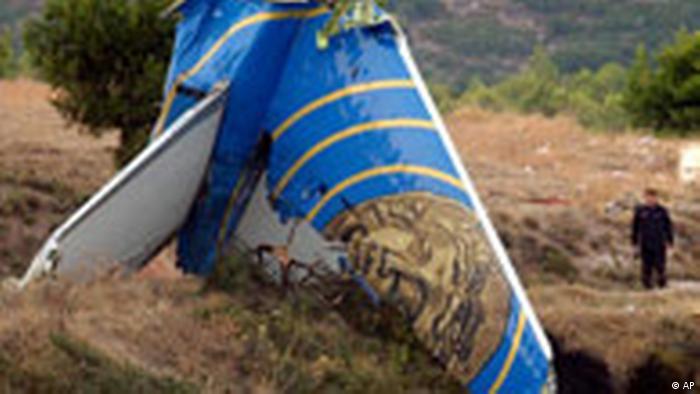 Griechenland Flugzeugabsturz Zypern Helios Fluggesellschaft Trümmer, Wrackteile (AP)
