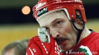 Президент Беларуси Александр Лукашенко в хоккейной форме
