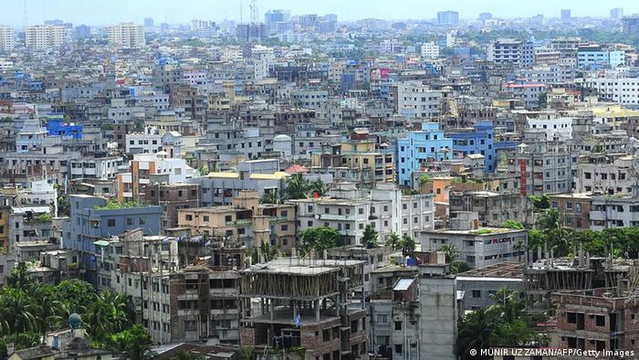 Aerial view of Dhaka.