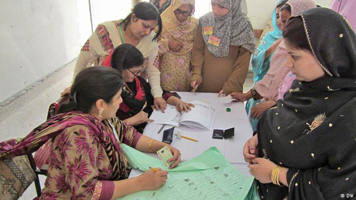 Picture 5: Women in Capital Islamabad's polling station. Picture taken by Shakoor Raheem, Islamabad