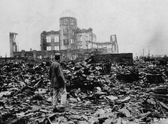 ** FILE ** A huge expanse of ruins left the explosion of the atomic bomb on Aug. 6, 1945 in Hiroshima. On Friday, Aug. 6, 2004 it is 59 years ago that 140.000 people died because of the disastrous explosion. (AP Photo)