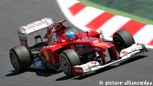 Spanish Formula One driver Fernando Alonso of Ferrari steers his car during the second practise session at the Circuit de Catalunya in Montmelo near Barcelona, Spain, 11 May 2012. The Grand Prix of Spain will take place here on Sunday 13 May. Foto: Jan Woitas dpa +++(c) dpa - Bildfunk+++ pixel