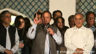 Nawaz Sharif Rede in Lahore (picture alliance/AP Photo)
