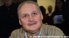 PARIS, FRANCE: (FILES) This file picture dated 30 November 2004 shows Venezuelan Illich Ramirez Sanchez known as Carlos the Jackal at a court house in Paris. The European Court of Human Rights said Thursday that France had failed to give the killer known as Carlos the Jackal proper legal recourse against his solitary confinement of more than eight years. The court ordered the French authorities to pay Carlos 5,000 euros (6,500 dollars) for his legal costs, agreeing that he had not been allowed to contest his solitary confinement before French justice, violating a clause in the European Convention on Human Rights, to which France adheres. AFP PHOTO THOMAS COEX (Photo credit should read THOMAS COEX/AFP/Getty Images)
