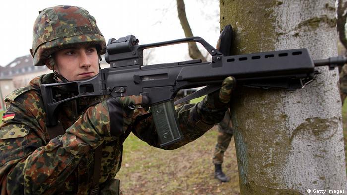 Солдат бундесвера во время учений