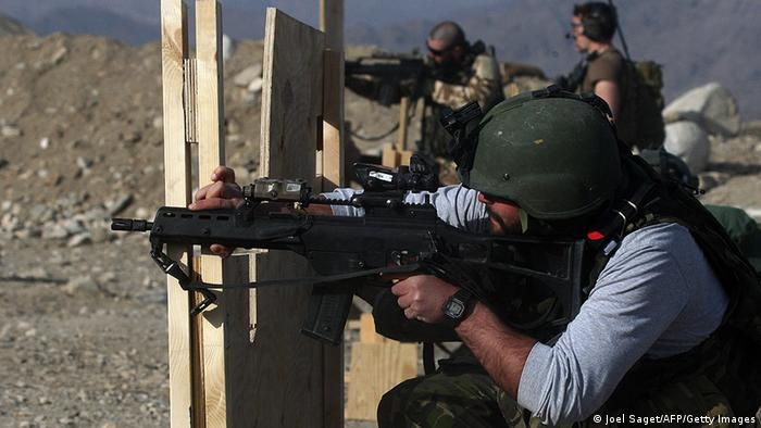 A soldier shoots with an German assault rifle G36 JOEL SAGET/AFP/Getty Images)