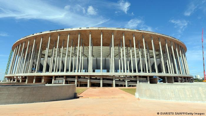 Außenansicht des Nationalstadions in Brasilia (Foto: Evaristo SA/AFP/Getty Images)