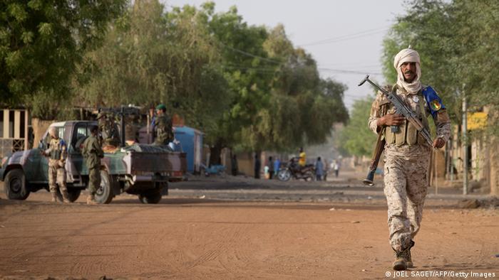 Soldados do exército do Mali em Gao - serão em breve apoiados por mercenários russos?