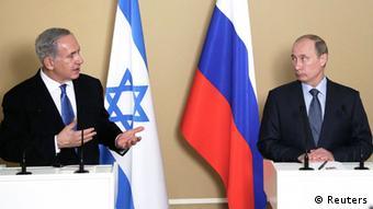 Russian President Vladimir Putin (R) and Israeli Prime Minister Benjamin Netanyahu (photo: REUTERS/Maxim Shipenkov/Pool (RUSSIA - Tags: POLITICS)