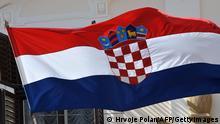 Kroatien Flagge in Zagreb