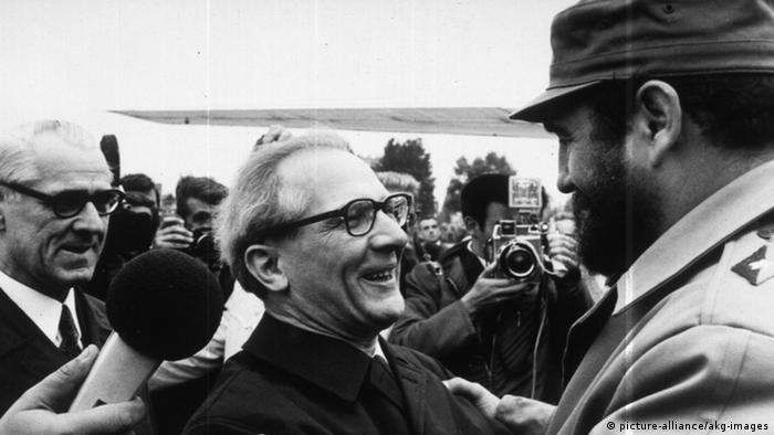 Fidel Castro in Ostberlin 1972 (picture-alliance/akg-images)