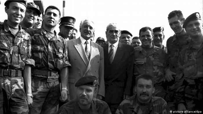 Tuđman 6.8.1995. u Kninu