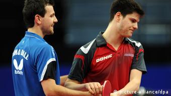 Tischtennis - Dimitrji Ovtcharov und Timo Boll