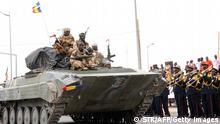 Tschadische Soldaten bei Rückkehr aus Mali 13.05.2013 mit Präsident Idriss Deby Itno