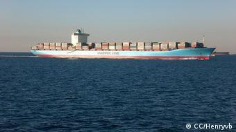 7600 TEU Container Schiff MV, Maren Maersk