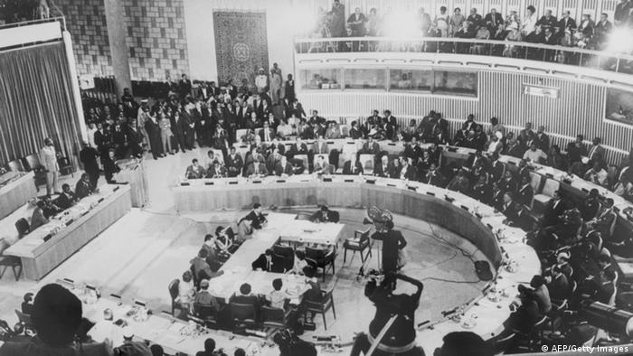 OAU- Gipfel im Mai 1963 in Addis Abeba (/AFP/Getty Images)