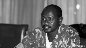 Yoweri Museveni bei der Machtübernahme 1986