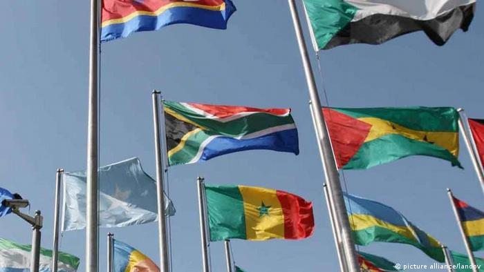 Flags of African Union member states Photo: Xinhua /Landov
