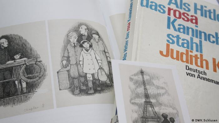 Kinderbuch-Zeichnungen aus: Judith Kerr Als Hitler das rosa Kaninchen stahl (DW/K.Schlusen)