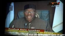 Goodluck Jonathan Präsident Nigeria Fernsehansprache ARCHIV