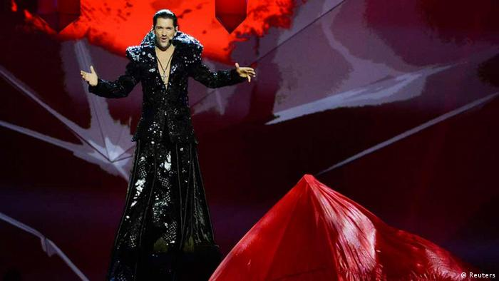 Cezar of Romania performs the song It's My Life during the ESC finale REUTERS/Jessica Gow/Scanpix Sweden