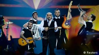 "Koza Mostra featuring Agathon Iakovidis of Greece performs the song Alcohol is Free"" during the ESC finale REUTERS/Jessica Gow/Scanpix Sweden"