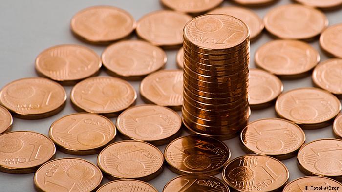 Symbolbild Geld Münze Cent (Fotolia/Dron)