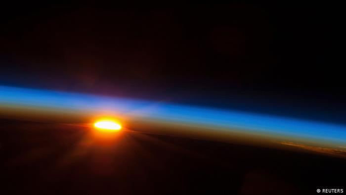 The sun is about to come up over the South Pacific Ocean in this colorful scene photographed by one of the Expedition 35 crew members aboard the Earth-orbiting International Space Station between 4 and 5 a.m. local time on May 5, 2013 and released on May 9, 2013.NASA/Handout via Reuters