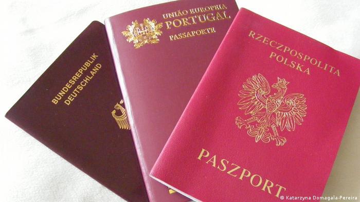 Passports from three European Union members Photo: Katarzyna Domagala-Pereira