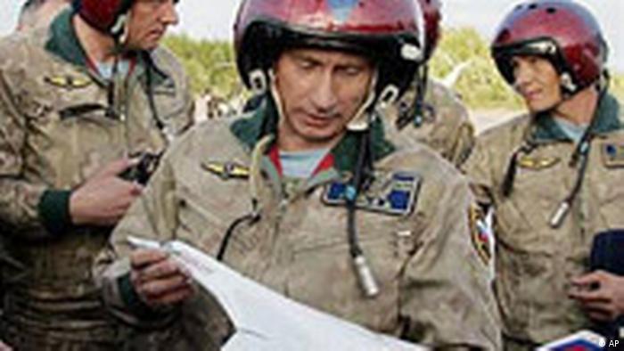 Putin war bei der Moskauer Flugshow (AP)