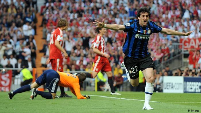Europapokal Finale Inter Mailand Bayern München 2010 Diego Milito