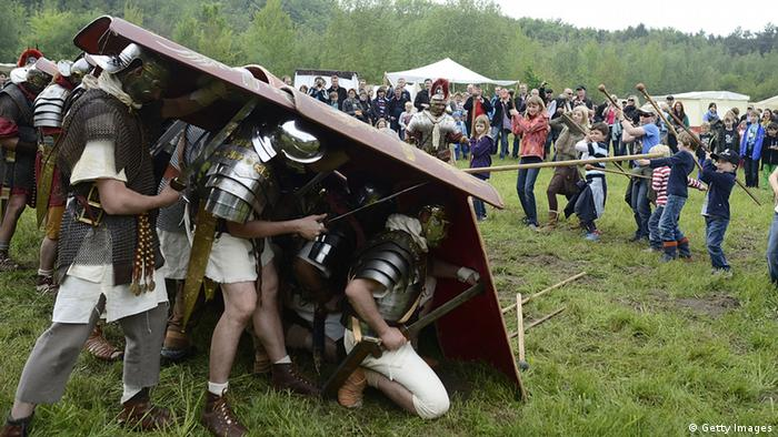 Re-enactment of the Battle of Teutoburg (Getty Images)