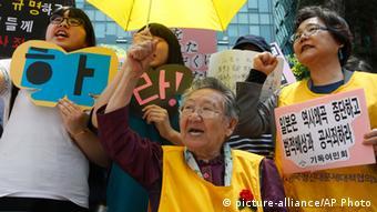 Protest ehemaliger Trostfrauen Japans in Südkorea