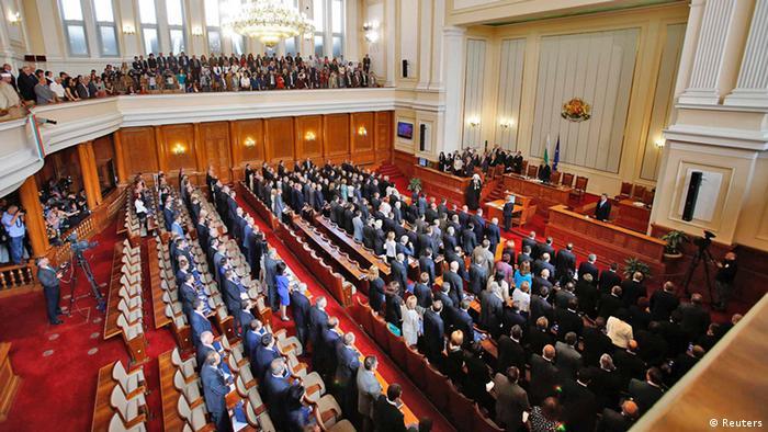 Bulgarien erste Sitzung des neuen Parlaments (Reuters)