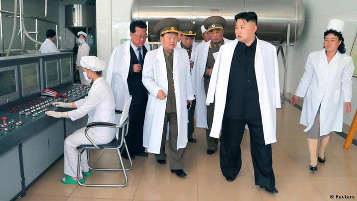 Nordkorea Kim Jong-Un Fabrikbesuch