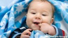 Symbolbild Kuscheldecke Mittagschlaf Baby