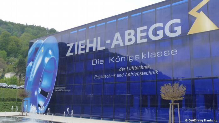 A truck of refrigeration equipment maker Ziehl-Abegg waiting at the company's headquarters at Künzelsau, Germany