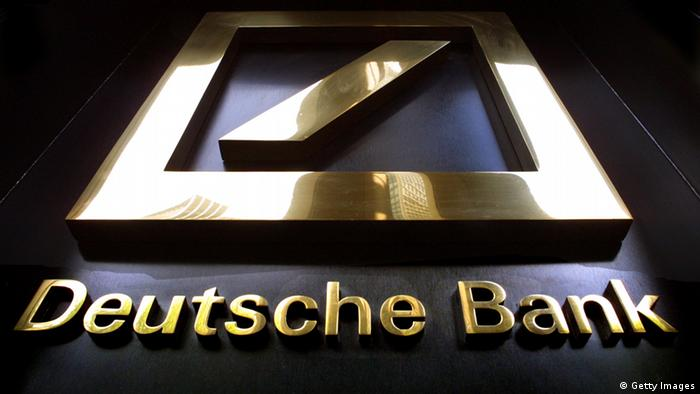 Deutsche Bank Logo Zentrale in New York