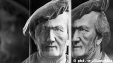 Die Büste des deutschen Komponisten Richard Wagner (1813-1883) steht in einer Holographie am 11.03.2013 im Stadtgeschichtliches Museum in Leipzig (Sachsen). Das Museum zeigt vom 13.03.-26.05.2013 aus Anlass des 200. Geburtstages des in Leipzig geborenen Komponisten eine Ausstellung unter dem Titel Wagnerlust & Wagnerlast. Foto: Peter Endig/dpa +++(c) dpa - Bildfunk+++