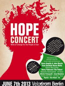 Hope Konzert Iran Poster des Veranstalters