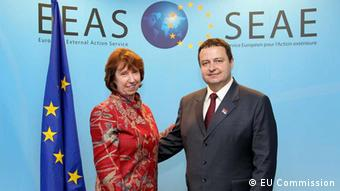 Ms. Catherine ASHTON, High Representative of the EU for Foreign Affairs and Security Policy; Mr Ivica DACIC, Prime Minister of Serbia. Photo: Ivan Djerkovic