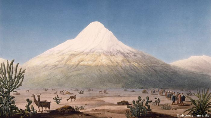 Ecuador Deutschland Wissenschaft Alexander von Humboldt Bild vom Vulkan Chimborazo