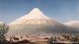 Vom großen Gelehrten höchstselbst vermessen: der Vulkan Chimborazo in Ecuador (Foto: picture-alliance/akg)